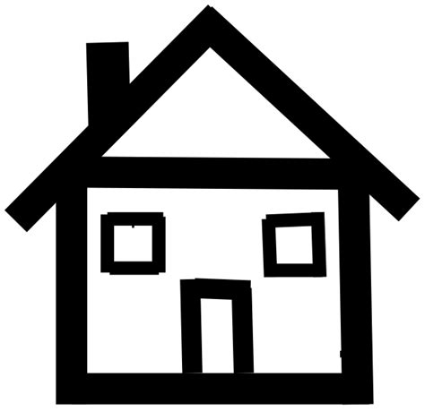 figure house stick figure house clipart