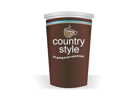 country style coffee vector - Country Style Coffee