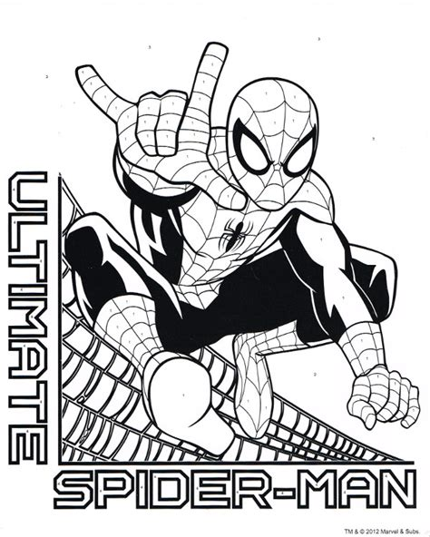 spiderfan org comics ultimate spider man coloring