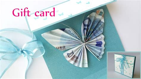 Money Gift Card - diy crafts gift card money holder butterfly innova crafts youtube