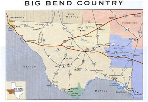 map of big bend texas deafnetwork big bend country