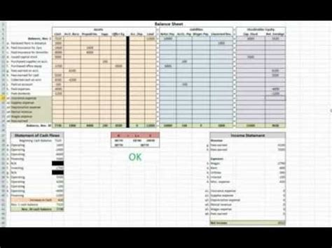 tutorial excel accounting a tutorial doubleentryaccounting org on double entry