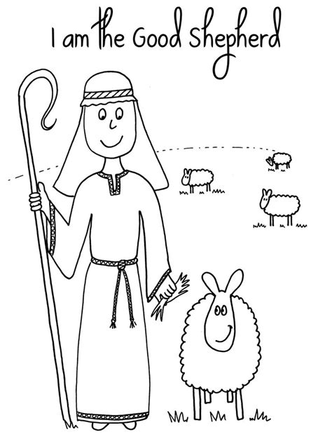 coloring page jesus with sheep jedi craft girl day 7 the lost sheep coloring pages 4