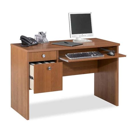 Office Desk Essentials Nexera Essentials Office Collection 24 X 48 Desk Cappuccino 730908