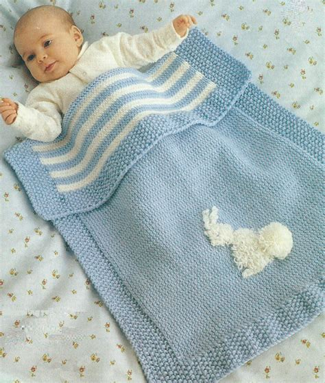 baby knitted blankets baby blanket knitting pattern pram cover dk easy knit 296