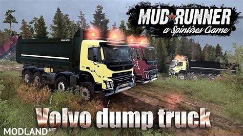 volvo fmx  dump truck    spin tires mudrunner