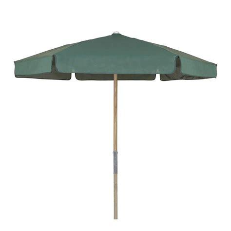 Vinyl Patio Umbrellas 7 5 Ft Wood Patio Umbrella With Forest Green Vinyl Coated Weave 7bpu 6r Tx Fg The Home