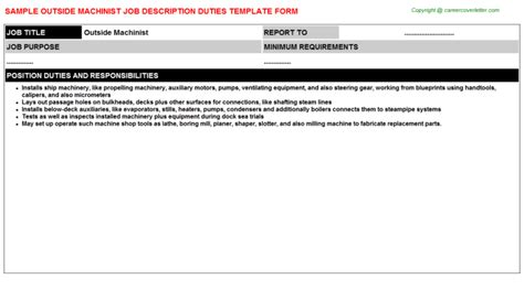 Foreman Resume Sle by Outside Machinist 28 Images Ship Superintendent