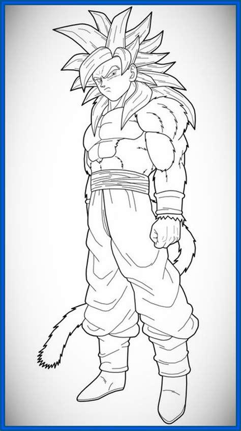 imagenes de goku ssj4 the gallery for gt goku super saiyan 5 para colorear