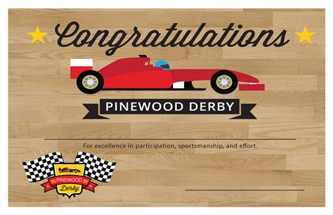Pinewood Derby Certificate Templates pinewood derby printables the mormon home