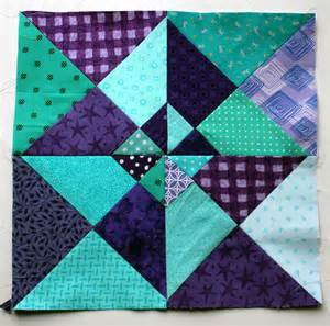 Free Quilt Block Patterns Colours Of This Week Are Purple Aqua Wombat Quilts