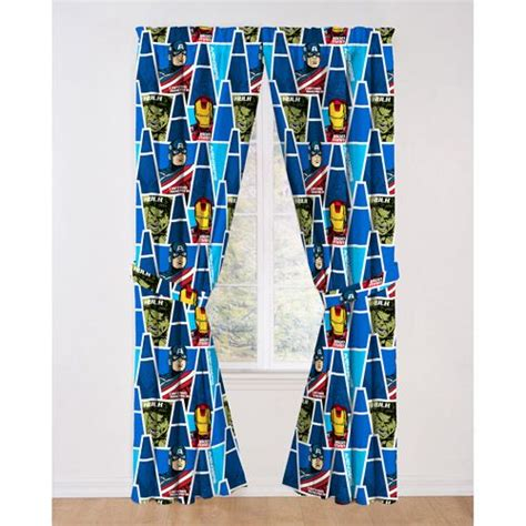 avengers curtains avengers curtain drapes set of 2 walmart com