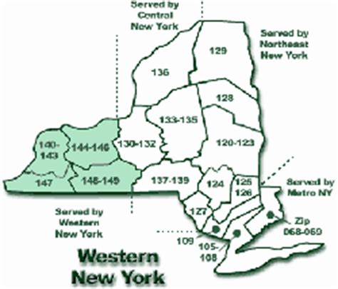 zip code map western ny western new york zip code map zip code map
