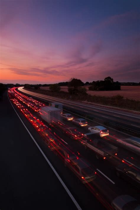 light trail photography motorway road specialist