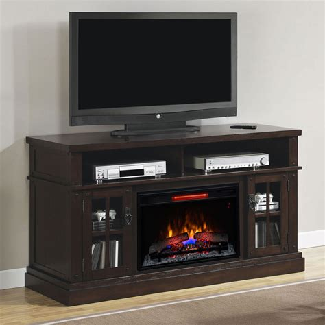 dakota infrared electric fireplace entertainment center in