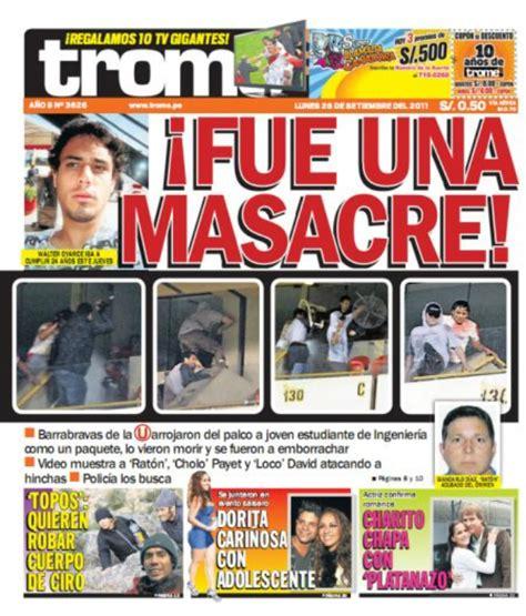 el trome diario peruano noticia prensa peruana sobre el caso walter oyarce