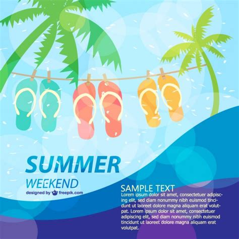 summer templates summer poster template vector free