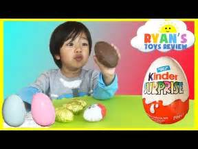 Kinder surprise eggs toys opening disney cars toys kids video ryan