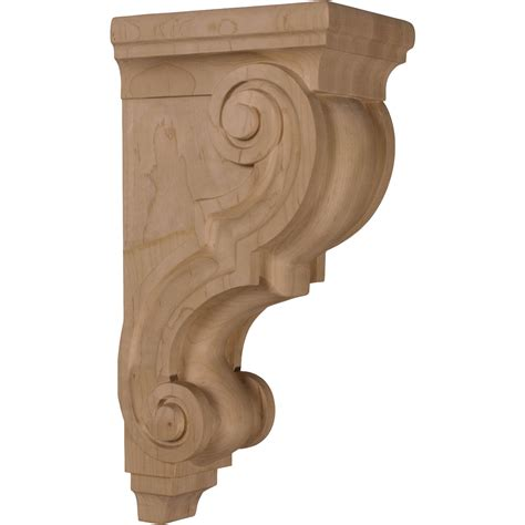 Large Corbel corbels brackets wood corbels traditional 5 x 6 75 x 14 large traditional corbel