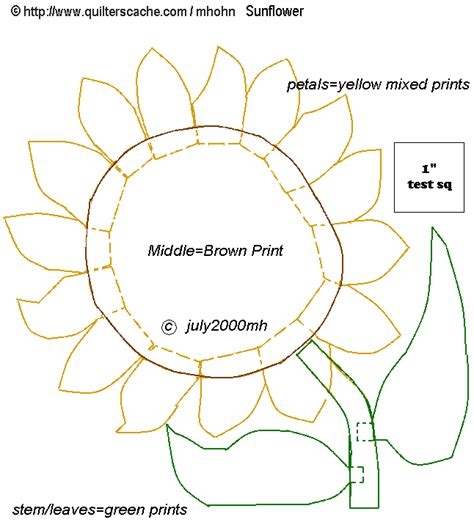 Free Printable Sunflower Template