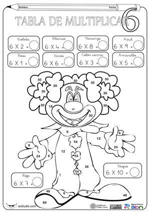 imagenes para colorear tablas de multiplicar te cuento un cuento ejercicios de tablas de multiplicar