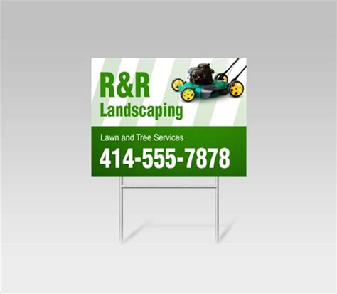 Landscape Yard Signs Landscaping Yard Signs Landscape Lawn Signs Signazon