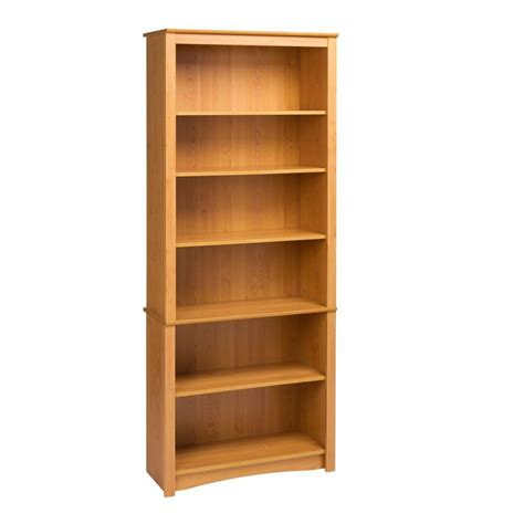 prepac maple 6 shelf bookcase the home depot canada