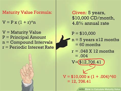 how to calculate maturity value 6 steps with pictures