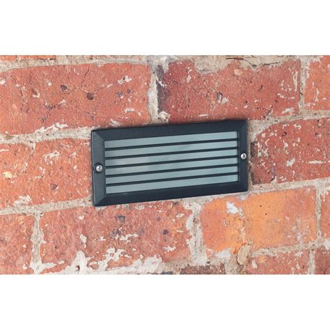 Brick Lights Outdoor Lighting El Yg 7000 Outdoor Black Brick Light With 5 Year Anti Corrosion Guarantee Outdoor Lighting