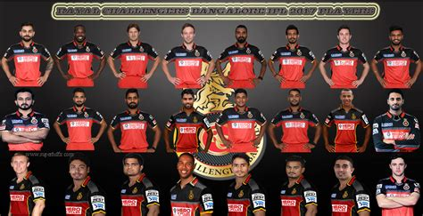 rcb all players 2017 rayal challengers bangalore ipl 2017 players superhdfx