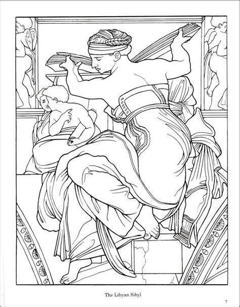 Free Coloring Pages Of Sistine Chapel Michelangelo Coloring Pages