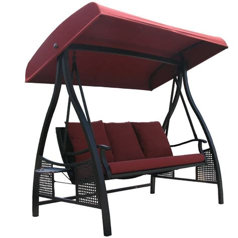 swing and tilt abba patio 3 person outdoor metal gazebo padded porch