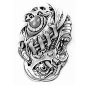 Scary Biomechanical Tattoo Stencil  Tattooshuntcom