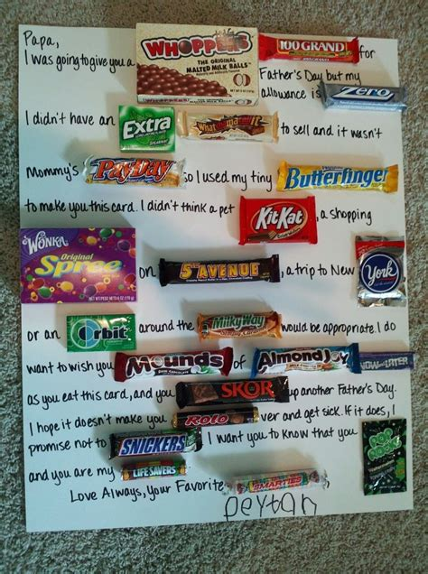 father s day candy card classroom decorations pinterest