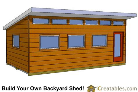 14x16 modern studio shed plans icreatables 14x24 modern studio shed plans icreatables