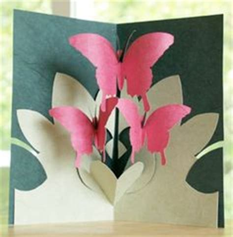 free butterfly pop up card templates 1000 images about kirigami patterns on