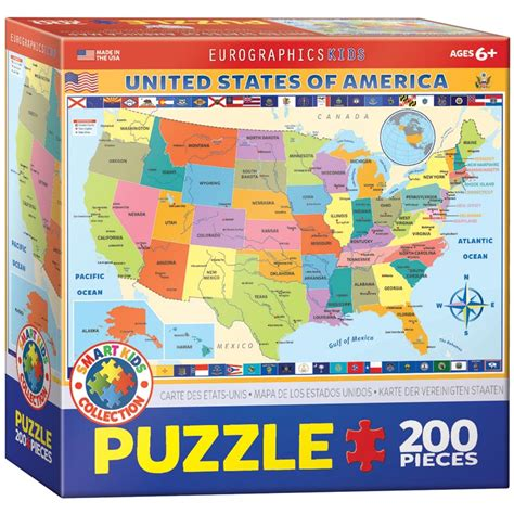 map of the united states jigsaw puzzle map of the united states of america educational jigsaw puzzle