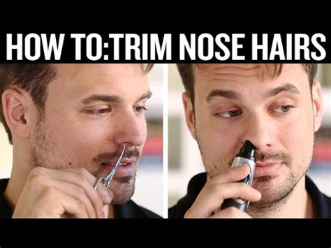 how to hide nostril hair how to trim nose hair doovi