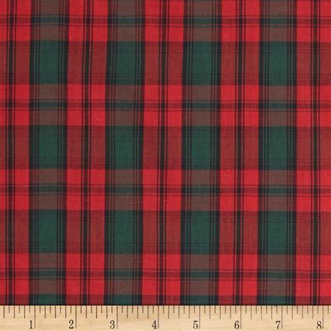 plaid fabric tartan plaid red green discount designer fabric fabric com