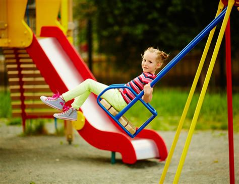 a child swings on a playground swing playground recreation injuries category archives