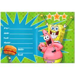 Spongebob Squarepants Template by Spongebob Birthday Invitations Plumegiant