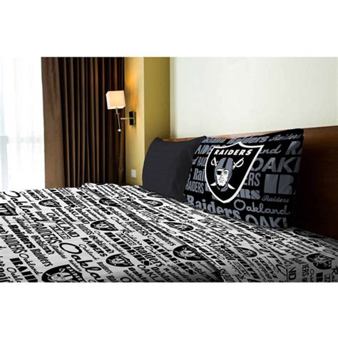 Raiders Bed Set Nfl Anthem Bedding Sheet Set Raiders Walmart