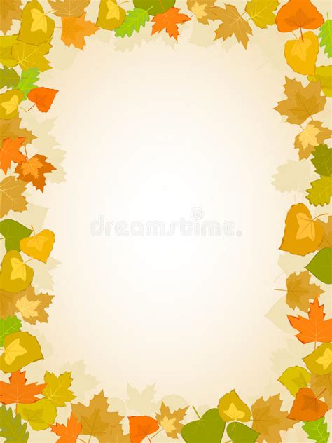 Autumn Leaf Frame Pattern Stock Vector Image Of Colored