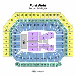 Ford Field Seat Map Ford Field Concert Seating Chart Ford Field Concert Tickets