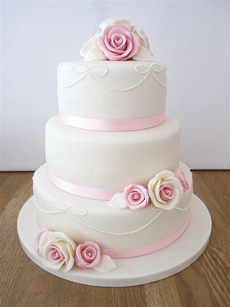 Simple But 3 Tier Wedding Cake For And Wedding Cakes The Cakery Leamington Spa