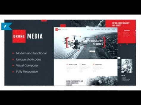Drone Media Aerial Photography Videography Themeforest Templates Youtube Aerial Photography Contract Template