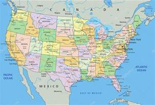 united states of america political map 图库矢量图像 169