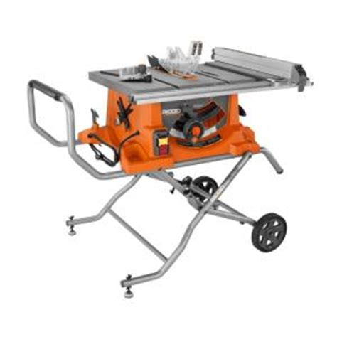 Table Saw At Home Depot by Ridgid 15 10 In Heavy Duty Portable Table Saw With Stand R4513 The Home Depot