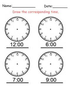 clock hand time worksheet
