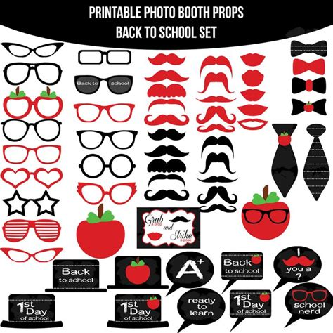 printable photo booth props pinterest 11 best back to school party images on pinterest